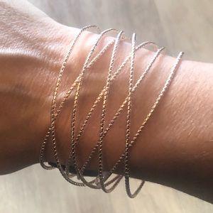 NWT INC gold crisscross cuff Bracelet